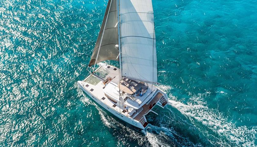 Yachting to Santorini