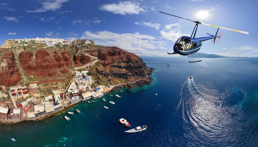 Santorini Excursions, Helicopter Flight