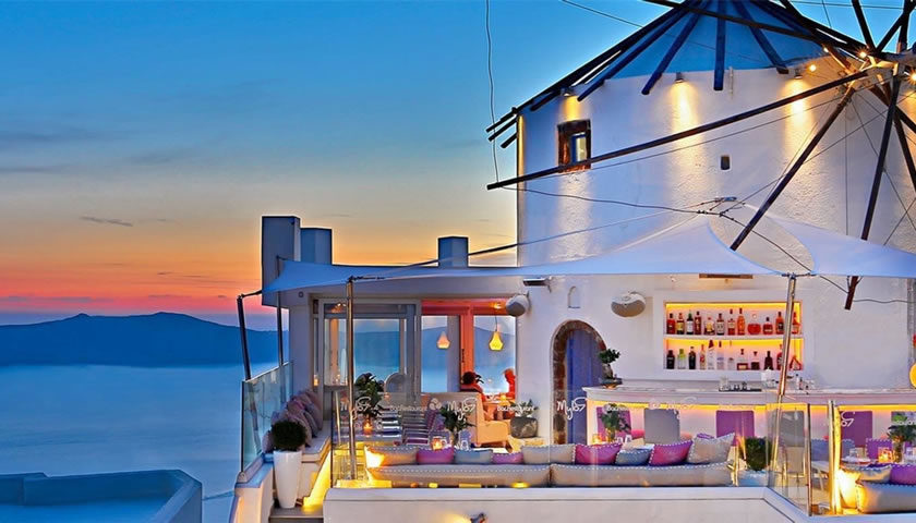 Mylos Bar Restaurant, Firostefani, Santorini