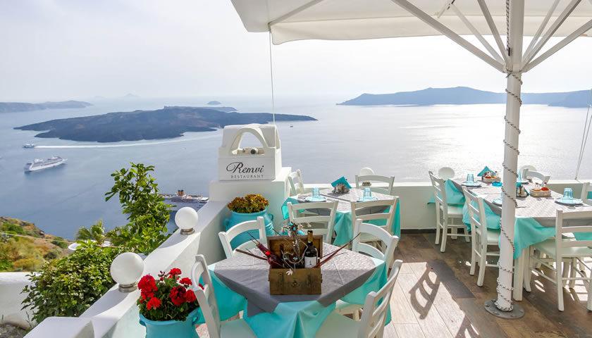 Remvi Restaurant, Firostefani, Santorini