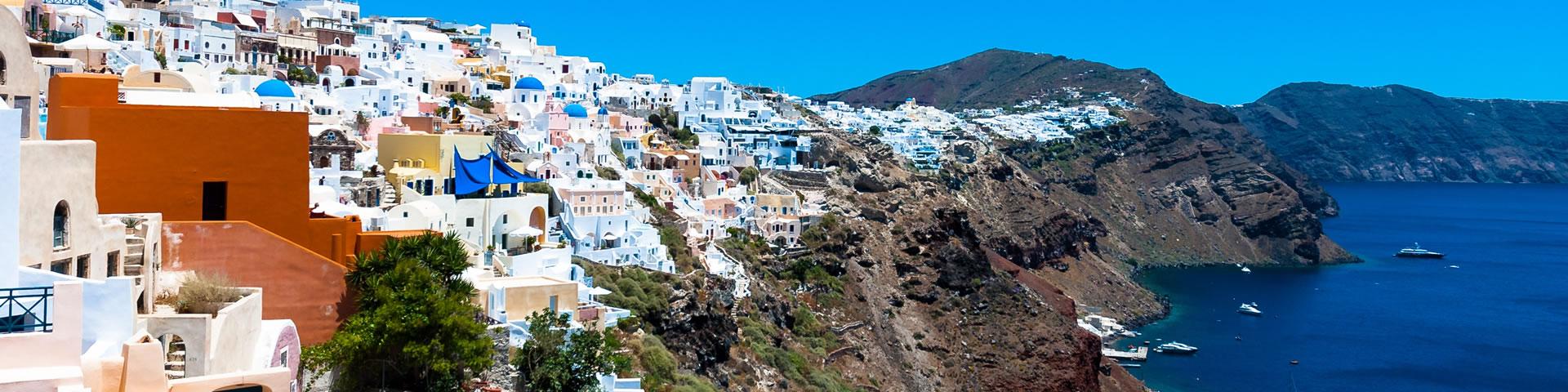 Santorini villages