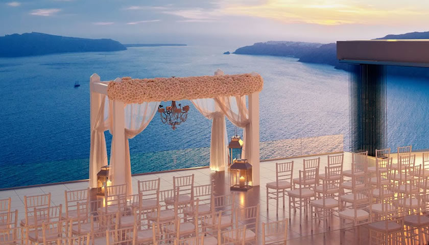 There Are Many Wedding Venues In Santorini Most Of Which Offer Amazing Views On The Volcano And Sea Them You Can Make Both Ceremony